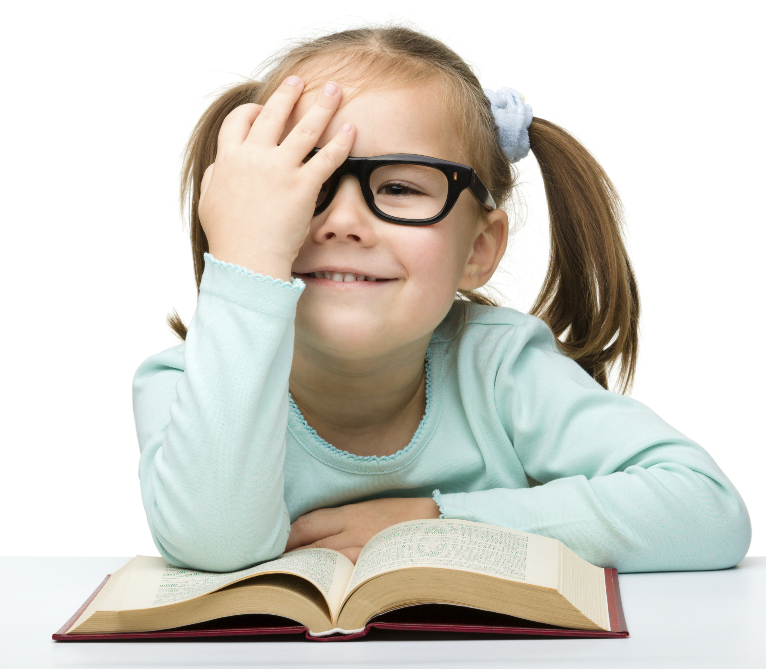 Kids with glasses and books